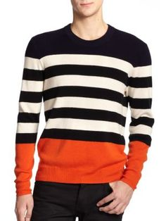 Burberry Elmer Striped Cashmere Sweater | Clothing