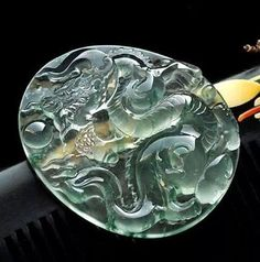 A very beautiful icy glass jadeite Dragon carving!