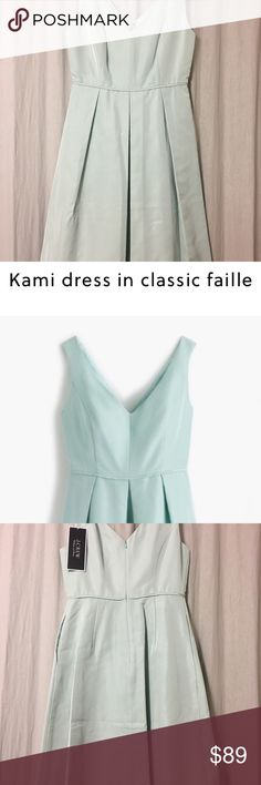 J. Crew Kami Dress in Classic Faille Brand New J Crew bridesmaid/formal dress in Sea Spray (light-jade-green color). J. Crew Dresses Wedding