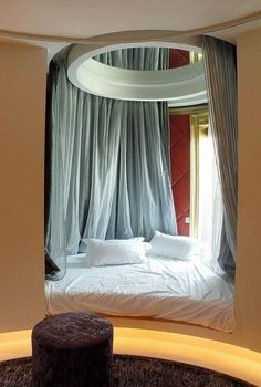 Bed right by the window