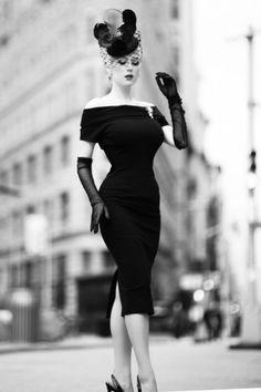 Vintage Diva Jazmin Dress in Black 20544 20170227 0018 crop