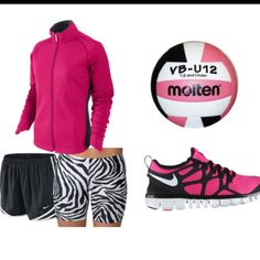 volleyball gear but it needs knee pads duh! Volleyball Gear, Volleyball Outfits, Volleyball Spandex, Softball, Athletic Outfits, Sport Outfits, Cute Outfits, Another A, Workout Wear
