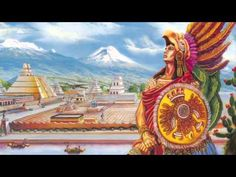 CYCLE 1 Week 17 iMovie trailers about explorers. This is the sample I created for them to have an idea to shoot for. It's about Hernan Cortes and the Aztecs. Jesus Helguera, Aztec Empire, Aztec Culture, Aztec Warrior, Mexico Culture, Red Indian, Warrior Spirit, Aztec Art, Mesoamerican
