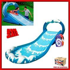 Inflatable Water Slide Surf Sprayer Bouncer Outdoor Kids Garden Play Centre Park