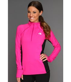 The North Face Women's Impulse 1/4 Zip Linaria Pink/TNF Black - Zappos
