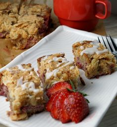 Gluten free almond flour strawberry almond coffee cake.  I'm topping this with toasted coconut.