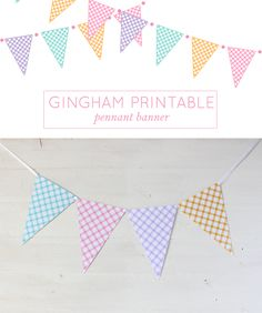 FREE Gingham Printable Pennant Banner <3