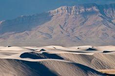 Sand Dunes at Dawn    White Sands National Monument, near Alamogordo, New Mexico.