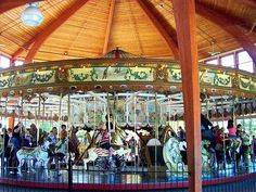 Herschell-Spillman Carousel at Greenfield Village in Dearborn, Michigan. The carousel was built in 1913, by the Herschell-Spillman Company at North Tonawanda, New York. The original location of this carousel is not known. It operated in Spokane, Washington from 1923 until the 1950's.