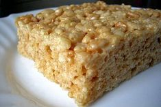 Riz soufflé et marshmallow Marshmallow Cereal, Rice Krispie Treats, Mousse, Banana Bread, Menu, Gluten Free, Yummy Food, Cooking, Sweet