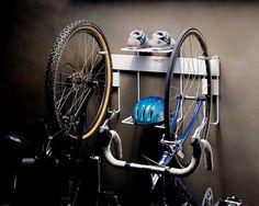 Racor Double Vertical Bike Rack - Bike Storage - - The Garage Store Bike Storage Basement, Bike Storage Home, Bicycle Storage Rack, Bicycle Rack, Garage Storage, Storage Racks, Wall Racks, Garage Organization, Basement Ideas