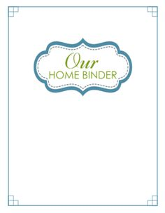 Awesome Home Binder free printables! Printed them all out and organizing all of me and Justin's stuff now before the move :)