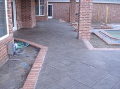 excellent replication Stamped concrete with brick trim
