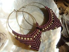 Orecchini a cerchio Macrame / Tribal gioielli / perle di Kalajadoo