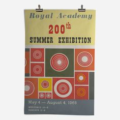 'RA Summer Exhibition 1968' Epic Poster - Royal Academy of Arts | Shop bespoke wall art at surfaceview.co.uk