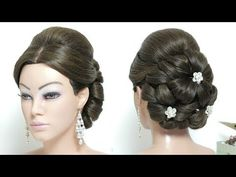 Easy Braided Updo - 17 Elegant Updos for Pretty Ladies - The Trending Hairstyle Updo Hairstyles Tutorials, Retro Hairstyles, Trending Hairstyles, Celebrity Hairstyles, Wedding Guest Hairstyles, Wedding Updo, Prom Updo, Bridal Hair Buns, Bridal Hairstyle
