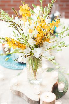 Rehearsal Dinner | Shades of Blue, Yellow + Green / Photo by Ian Riley Photography, Event Styling by Wedding 101 http://www.theperfectpalette.com/2013/11/rehearsal-dinner-shades-of-blue-yellow.html