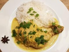 Poulet Korma Korma, Risotto, Grains, Rice, Garam Masala, Meat, Chicken, Hui, Ethnic Recipes