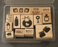 Stampin Up 1999 Baby Boutique 13 It's a boy girl time place