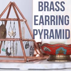 DIY Brass Earring Holder