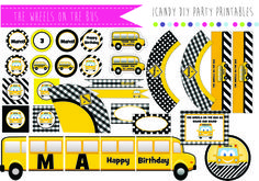 SCHOOLBUS PARTY PRINTABLES THE WHEELS ON THE BUS https://www.facebook.com/icandydiypartyprintables