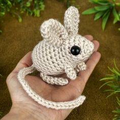"""272 Likes, 11 Comments - June Gilbank (@planetjune) on Instagram: """"Cutest amigurumi ever?! The jumping Jerboa is part of my new Mini Mammals pattern which features…"""""""