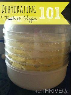 Dehydrating Fruits & Veggies 101