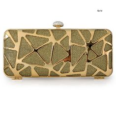 Amazing Plaid Satin Hollowed embellished Mini Clutches, Hard-Shell, Single Deck