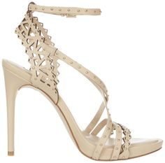 BCBGMAXAZRIA Beige/Nude Esra Sandal, $168. The prettiest beige sandal I've seen this year, and not terribly expensive. (also comes in black!). Amazon has it cheaper than anywhere else I've seen.