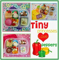 Tiny Princesses LOVE peppers!