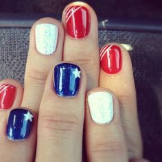 Stars | DIY July 4th Nails for Kids
