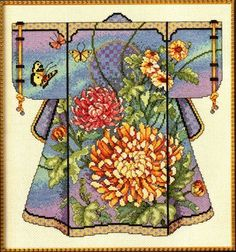 Oriental Kimono, designed by, Barbara Baatz Hillman, for Kooler Design Studio, via Janlynn.
