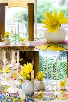 DIY centerpiece materials list; it's all about the color. So pretty.
