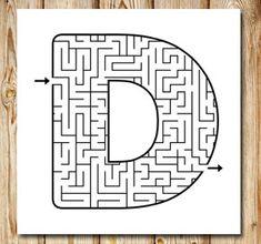 Labyrint: D | Gratis labyrinter att skriva ut själv Printable Mazes, Free Printables, D Free, Mazes For Kids, Activities, Tips, Maze, Lyrics, Malta