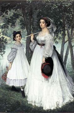 James Tissot, Les Deux Soeurs (Portraits dans un parc). Seen at the special exposition, L'Impressionisme et la mode (Impressionism and Fashion), Musée d'Orsay, Paris, November 2012.