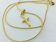 Collana Ciondolo Croce Oro Uomo Donna Crocifisso Unisex I Gioielli Di Vicky