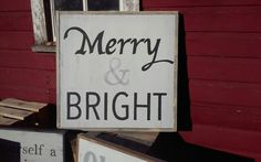 Merry and bright Christmas sign by Jenny at ReStyle with Fusion Mineral Paint