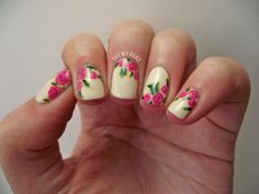 Tutorial : Rose Floral (Alphabet Nail Art Challenge)