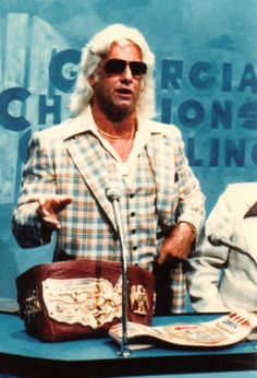 """The """"Nature Boy"""" Ric Flair and the U.S. Championship. Slick Ric stylin' and profilin' in the 80's."""