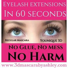 Eyelash extensions can be so damaging! Get the same look for $29! It goes on just like mascara and you wash it off at the end of the day. Love it or send it back! 14 day guarantee!