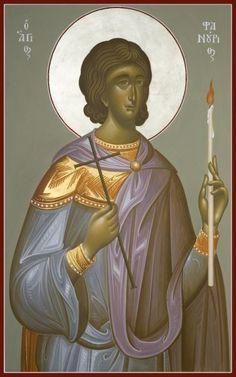 St Phanourios icon, by George Kordis Paint Icon, Byzantine Icons, Orthodox Christianity, Orthodox Icons, Medieval Art, Sacred Art, Religious Art, Christian Faith, Modern Art