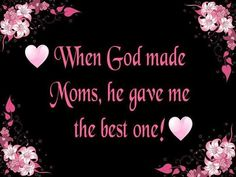 He sure did. And now she has been with him for almost 11 years. Sure do miss her. Will never be able to be anywhere close to the woman she was. Kind, patient, forgiving, never said a bad word about anyone! AMAZING MOMMA!