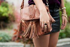 long strap tassle leather purse. Cayute!