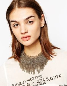 Enlarge ALDO Coney Chain Drape Collar Necklace