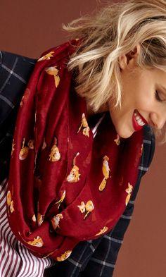 Soft fox print infiniti scarf