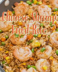 Easy Chinese Shrimp Fried Rice Made at Home – Rice recipes Shrimp And Rice Recipes, Easy Rice Recipes, Shrimp Dishes, Rice Dishes, Seafood Recipes, Asian Recipes, Cooking Recipes, Easy Shrimp Fried Rice Recipe, Chinese Shrimp Fried Rice