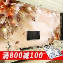 NEW Can be customized large 3 d abstract art mural painting flowers,wall roll wall paper tv background wallpaper fashion modern(China)