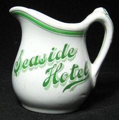 Maddock 1900's Seaside Hotel - Honolulu - Hawaii S.M. Handled Creamer -