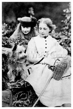 Vintage Dog Card with Two girls with Cairn by TheHauserGallery, $3.00