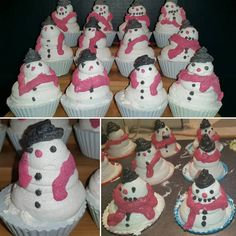 """""""Frosty Snowman"""" Cold Process Cupcakes... first holiday soap"""